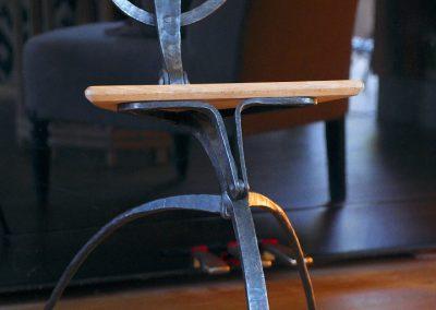 "Chaise ""sauterelle"" - ferronnerie"